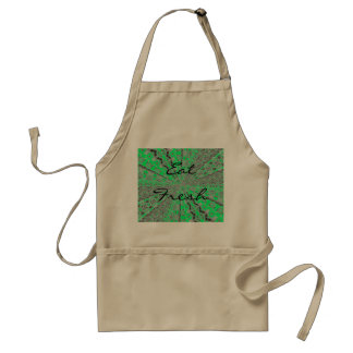 Funky coloured/silver art design standard apron