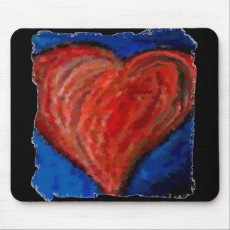 Funky Cool Artsy Heart - romantic mousepad