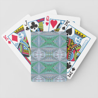Funky Cool Blue Green Kaleidoscope Tribal Pattern Bicycle Playing Cards