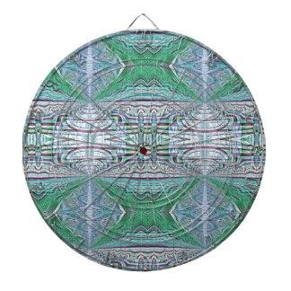 Funky Cool Blue Green Kaleidoscope Tribal Pattern Dartboard