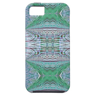 Funky Cool Blue Green Kaleidoscope Tribal Pattern iPhone 5 Case