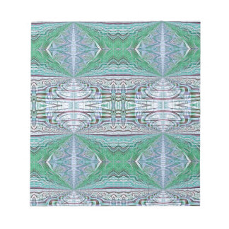 Funky Cool Blue Green Kaleidoscope Tribal Pattern Notepad