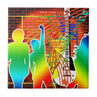 Funky Cool Music Dance Pop Art Design Ceramic Tiles
