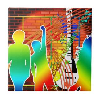 Funky Cool Music Dance Pop Art Design Ceramic Tile