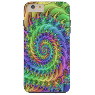 Funky Cool Psychedelic Fractal Spirals Pattern Tough iPhone 6 Plus Case