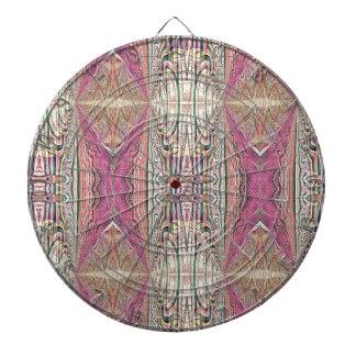 Funky Cool Tan Pink  FeminineTribal Pattern Dartboard