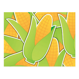 Funky corn postcard