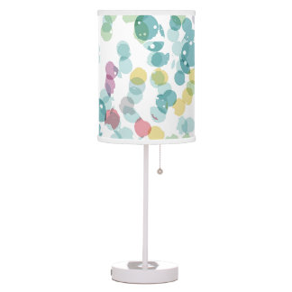 Funky Cute Colorful Happy Summer Polkadots Pattern Table Lamp