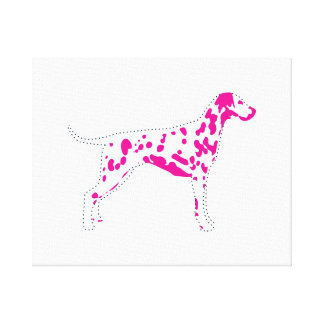 Funky Dalmatian Pop Art Canvas Print