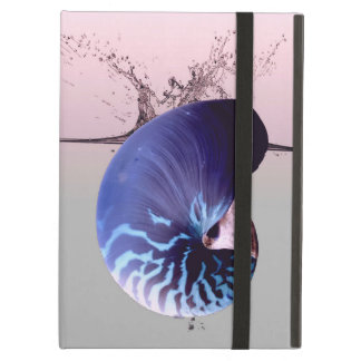 Funky deep blue nautilus on a splash of sunset case for iPad air