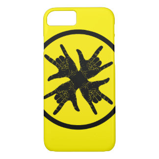 Funky design yellow case for iPhone 7