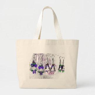 Funky Designer Earring Print Tote Bag