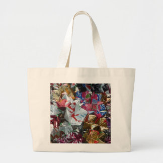 Funky desinger tote bag, white, pink, multi colour