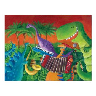 Funky Dinosaur Band Postcard