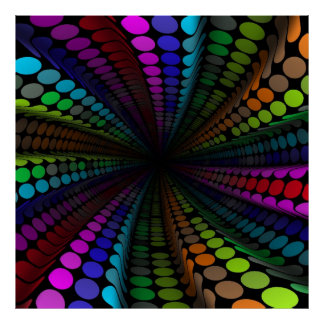 funky dots poster