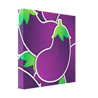 Funky eggplant canvas print