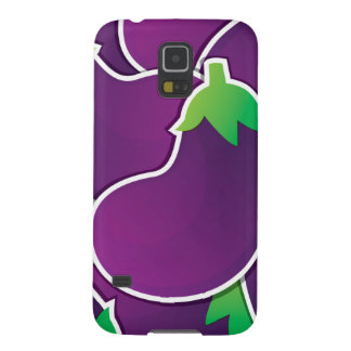 Funky eggplant galaxy s5 cover