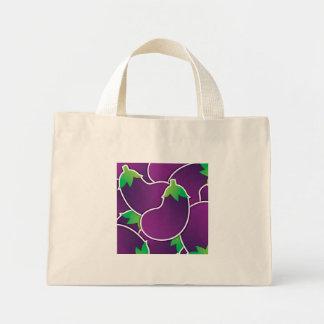 Funky eggplant mini tote bag