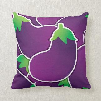 Funky eggplant throw pillow
