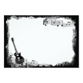 Funky Electric Guitar Flat Thank You Note Card
