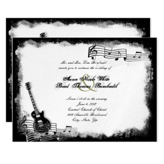 Funky Electric Guitar Music Wedding Invitation