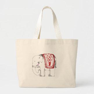 Funky Elephant Large Tote Bag