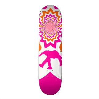 Funky Elephants Kaleidoscope Hot Pink Orange Skateboards