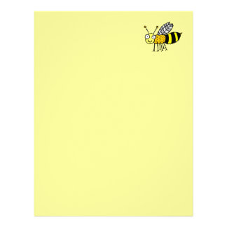 Funky Farm Honey Bee Recycled Letterhead Paper