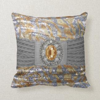 Funky Faux Sequin Rhinestone Mojo Pillow