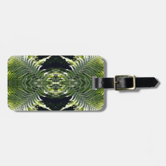 Funky Ferns Customizable Luggage Tag