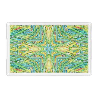 Funky Festive Pastel Cross Shaped Pattern Acrylic Tray