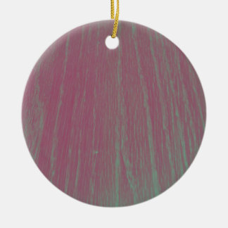 Funky Filter Wood Texture Photography Round Ceramic Ornament