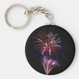 Funky Fireworks Keychain