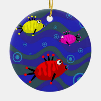 Funky Fish Ceramic Ornament