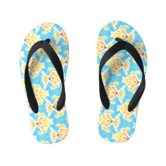 Funky fish kid's flip flops