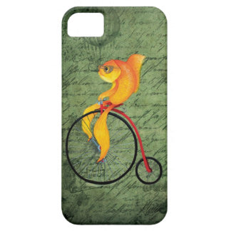Funky Fish on a Penny Farthing iPhone 5 Covers