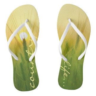 Funky flip flops country life