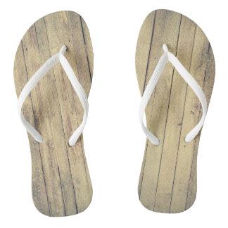 Funky flip flops wood
