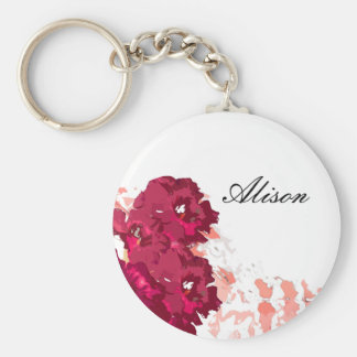 Funky Flora - Button Keychain