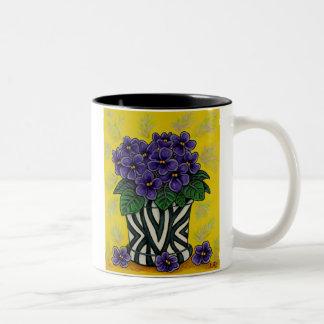 Funky Floral Coffee Mugs