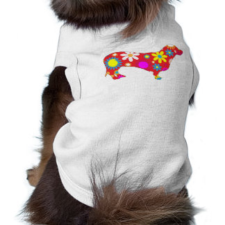 Funky floral dachshund pet dog clothing