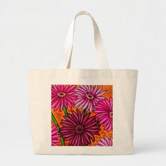 Funky Floral Gerbera Daisy Tote Bag