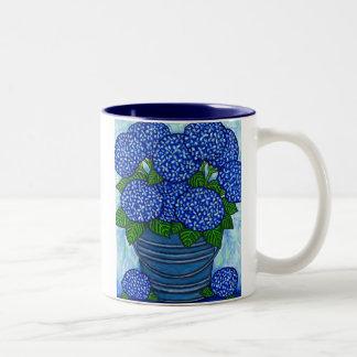 """Funky Floral """"Hydrangea"""" Coffe Mug"""