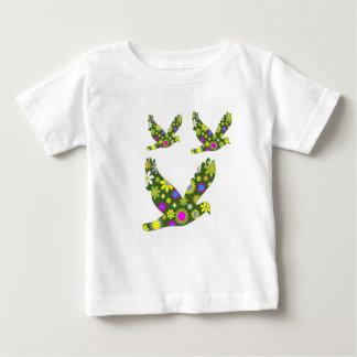 Funky Floral Retro Bird Baby T-Shirt
