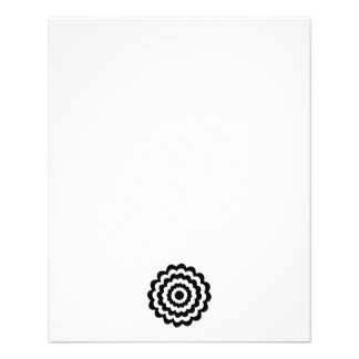 Funky Flower in Black and White Flyer