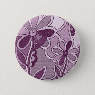 Funky Flowers Button