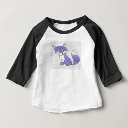Funky Foxes Pattern Baby T-Shirt