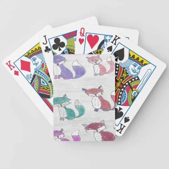 Funky Foxes Pattern Bicycle Playing Cards