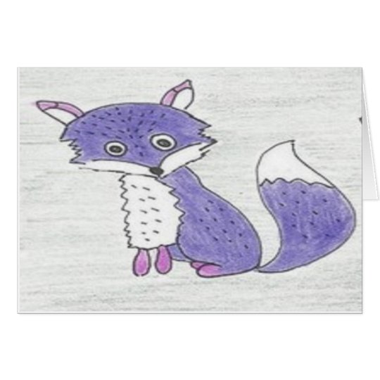 Funky Foxes Pattern Card