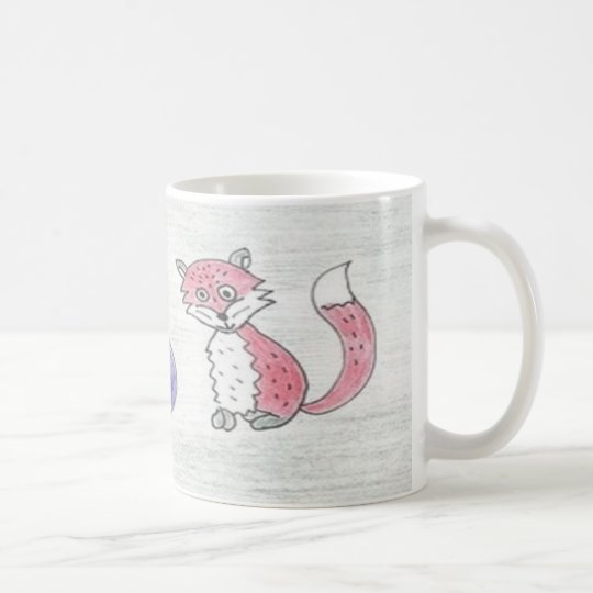 Funky Foxes Pattern Coffee Mug
